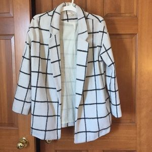 Windowpane print jacket